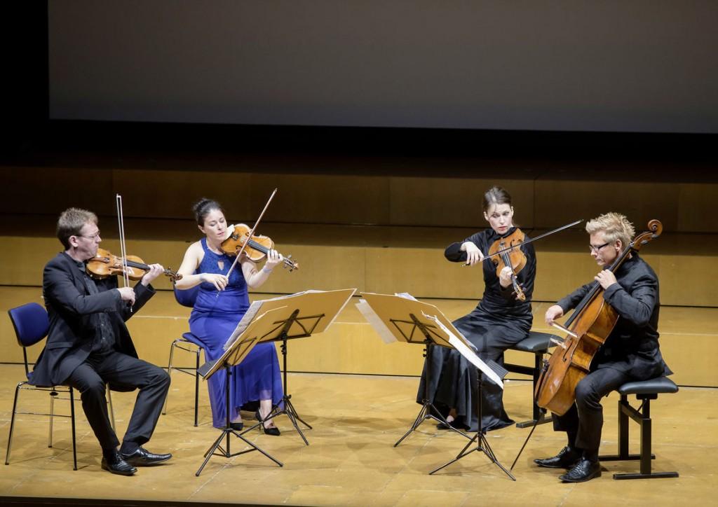 Das Minguet-Quartett in der Stadthalle Ingolstadt.