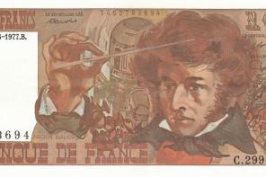 Berlioz dirigiert seine Grande messe des morts auf der zehn Francs Note