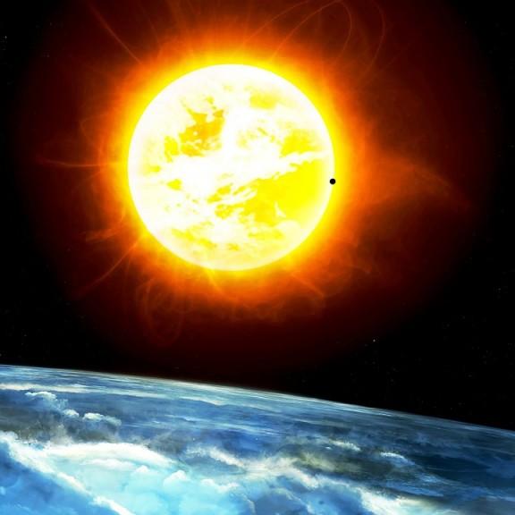Sonne und Erde