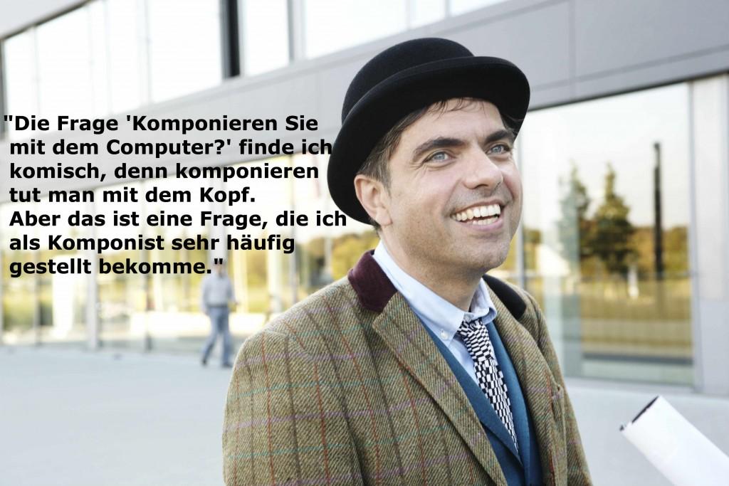 Komponist, Pianist und Professor für Komposition Moritz Eggert.